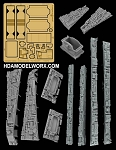 VENATOR CLASS STAR DESTROYER SIDE PANELS RESIN AND PHOTOETCH DETAIL SET for the Revell 1/2274 Scale Model Kit by GREEN STRAWBERRY